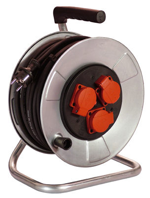 Metal cable reel for construction sites 3x1,5 mm²