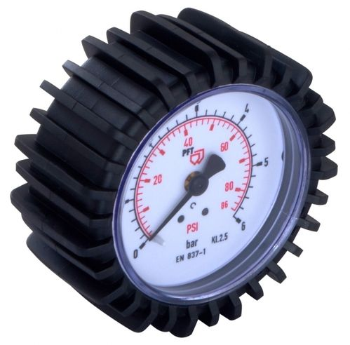"Gauge 0-6 bar 1/4"" at back, D = 63mm"