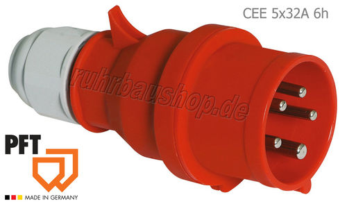 Spina CEE 5x32A 6h rosso [PFT 20427600]