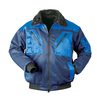 NORWAY two-coloured pilot-jacket VEGA navy blue - royal blue