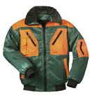 NORWAY zweifarbige Pilotjacke ROTDORN grün-orange