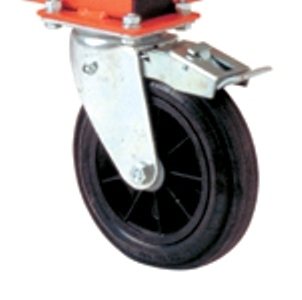 Pivoting wheel 200/50 with brake