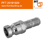 Coupling 25 male/25-socket turnable