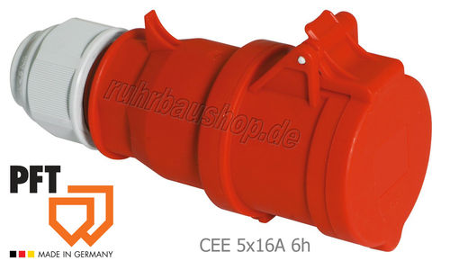 Coupling CEE 5x16A 6h red [PFT 20429200]