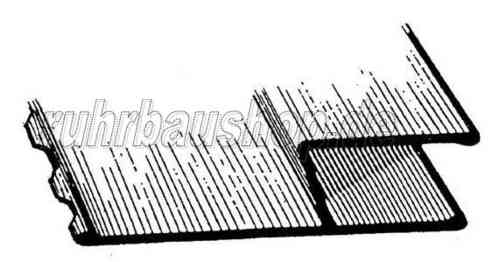 H-section featheredge, toothed 180 cm