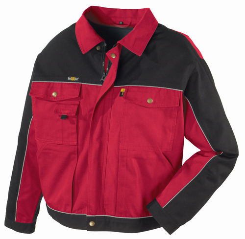Canvas-Bundjacke  rot-schwarz