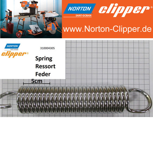 Traction spring for cutting head