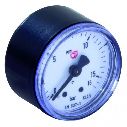 "Manometer 0-16 bar 1/8"" hinten, D = 40 mm"