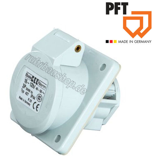 Panel mounted socket CEE 3x 16A 12h white [PFT 20426400]