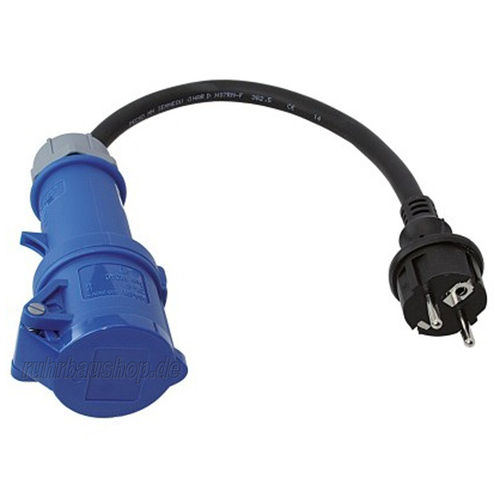 Adapter cable BLU 3-16A | Schuko 230 V