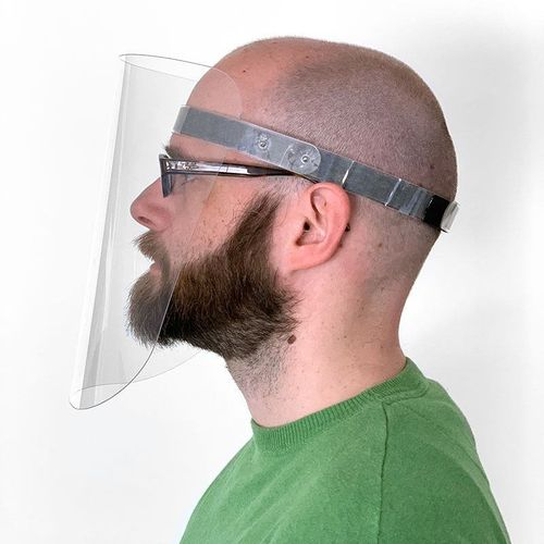 Face protection made of PET transparent