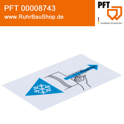 Sticker pictogram risk of frost