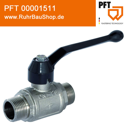 "Ball valve 1"" male PN 40 with long lever"