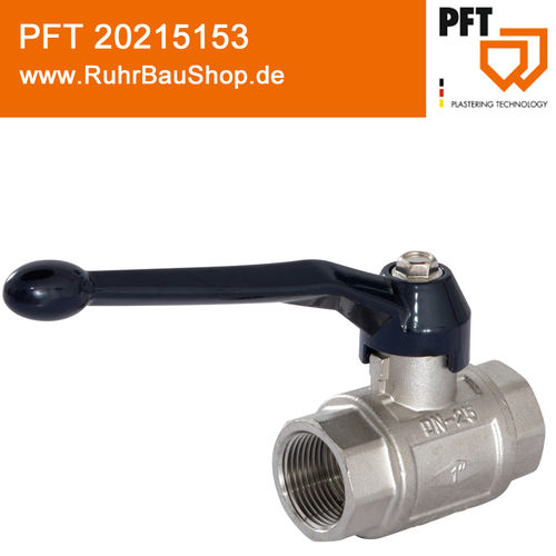 "Ball valve 1"" female PN 40 with long lever"