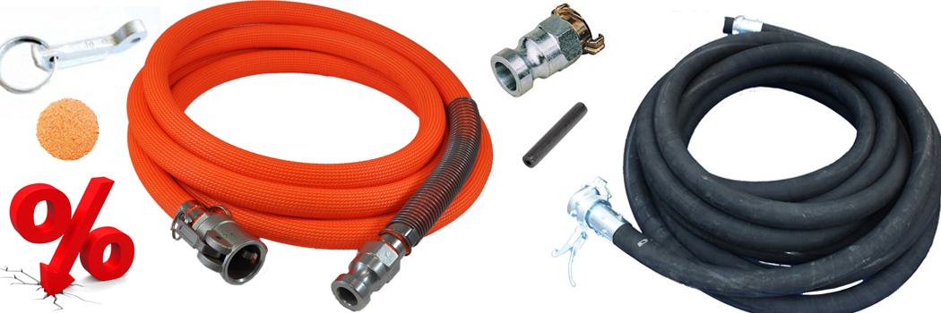 Here you will find low-priced hoses and accessories!